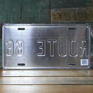 ブリキ看板 ルート66 ライセンスプレート アメリカン雑貨|goodsfarm|02