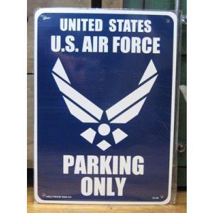プラスチック サインプレート U.S.AIR FORCE パーキングプレート インテリア アメリカン雑貨|goodsfarm
