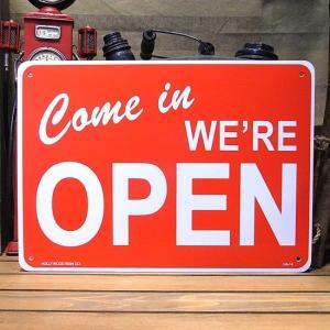 プラスチック オープンサインプレート OPEN 看板|goodsfarm