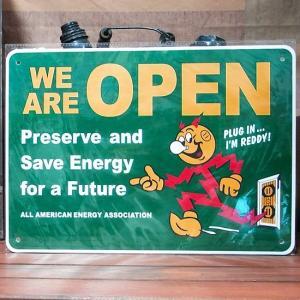 レディキロワット オープン プラスチック サインプレート|goodsfarm