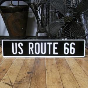 ルート66 アルミ エンボスプレート US ROUTE 66 ストリートサイン|goodsfarm