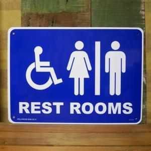 プラスチック サインプレート レストルーム トイレ 看板 インテリア|goodsfarm