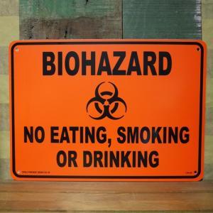 プラスチック サインプレート WARNING 警告 BIOHAZARD 看板 インテリア|goodsfarm
