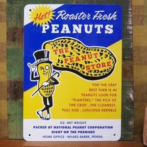 Mr.PEANUTS STORE プラスチック サインプレート ミスター ピーナッツ インテリアボード|goodsfarm