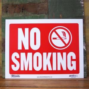 NO SMOKING プラスチック サインプレート 禁煙 喫煙禁止 ノースモーキング|goodsfarm