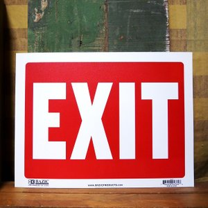 EXIT プラスチック サインプレート 出口|goodsfarm