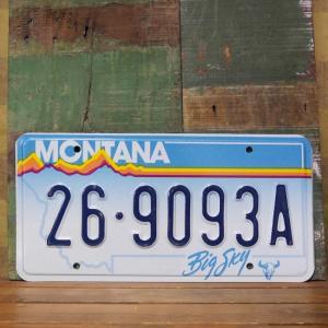 MONTANA アメリカン ユーズドナンバープレート モンタナ州 ブリキ看板|goodsfarm