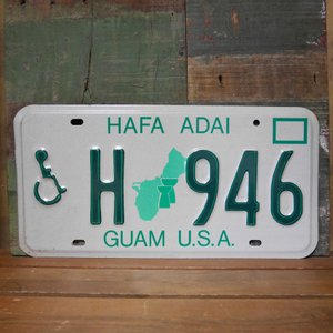 GUAM アメリカン ユーズドナンバープレート  グアム準州 ブリキ看板 goodsfarm