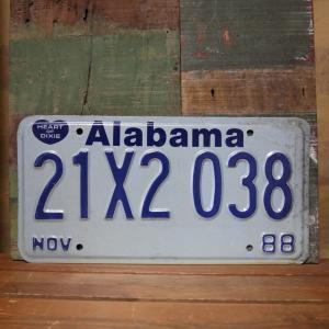 Alabama アメリカン ユーズドナンバープレート アラバマ州 ブリキ看板|goodsfarm