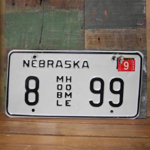 NEBRASKA アメリカン ユーズドナンバープレート ネブラスカ州 ブリキ看板|goodsfarm