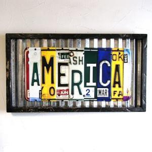 アメリカ トタン ナンバープレートフレーム AMERICA ブリキ看板|goodsfarm