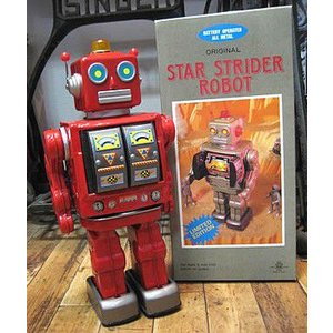 ブリキのおもちゃ ブリキの電動ロボット スターストレイダー goodsfarm