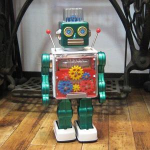 ブリキのおもちゃ ブリキの電動ロボット ギアエースロボット goodsfarm