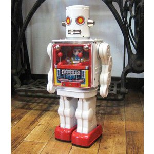ブリキのおもちゃ ブリキの電動ロボット コックピットロボット goodsfarm