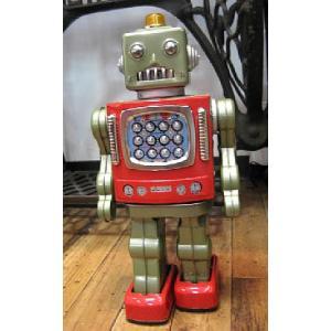 ブリキのおもちゃ ブリキの電動ロボット スターパトロール goodsfarm