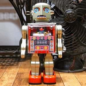 オペレーターロボット ブリキのおもちゃ ブリキの電動ロボット goodsfarm