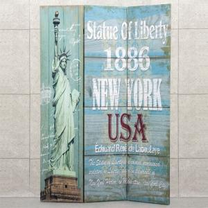キャンバス パーテーション ニューヨーク 1886 アメリカン 衝立 間切り goodsfarm