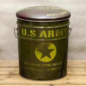 ぺール缶 スツール US ARMY 収納ボックス オイル缶 椅子|goodsfarm