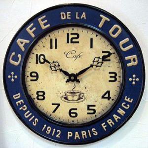 壁掛け時計 ウォールクロック Cafe tour カフェクロック