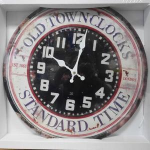 アンティーク エンボス クロック STANDARD TIME 壁掛け時計|goodsfarm