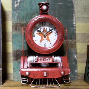 テキサス クロック トレイン 壁掛け時計 置時計 機関車|goodsfarm