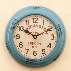 アンティーククロック 壁掛け時計 レトロ KENSINGTON STATION ウォールクロック|goodsfarm