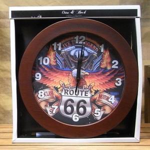 ウォールクロック ROUTE66 壁掛け時計 ルート66 アメリカン雑貨|goodsfarm
