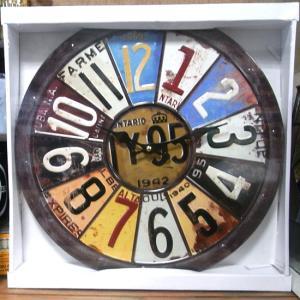 ウォールクロック NUMBERS 壁掛け時計 ナンバープレート|goodsfarm