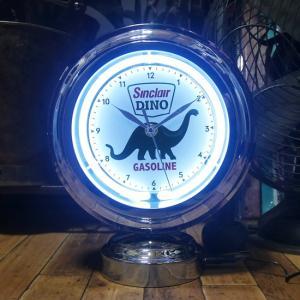 Sinclair DINO ガスランプ ネオンクロック 置時計 シンクレア GASLAMP NEON CLOCK|goodsfarm