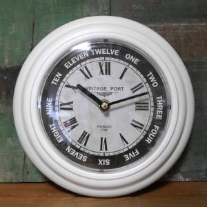 オールドルッククロック レトロメタル ホワイト 掛け時計 ウォールクロック|goodsfarm