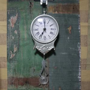 アンティーク シルバークロック 掛け時計 ウォールクロック goodsfarm
