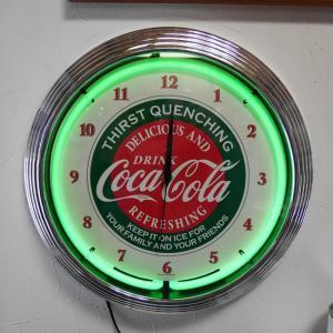 コカコーラ ネオンクロック 掛け時計 COCA COLA NEON CLOCK SINGLE ウォールクロック|goodsfarm