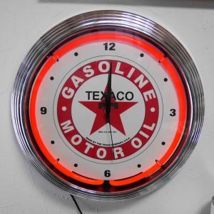 テキサコ ネオンクロック 掛け時計 TEXACO NEON CLOCK SINGLE ウォールクロック|goodsfarm