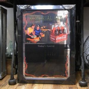 コカコーラ パブミラー メニューボード 鏡 アメリカ雑貨|goodsfarm