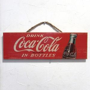 コカコーラ 木製看板 CokeRed ウッドサイン オールドアメリカン アメリカン雑貨|goodsfarm