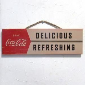 コカコーラ 木製看板 CokeDelicious ウッドサイン オールドアメリカン アメリカン雑貨|goodsfarm