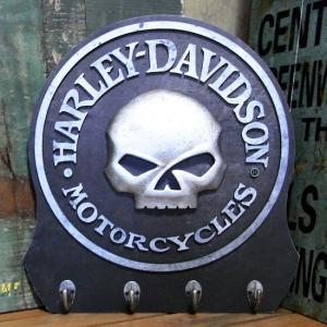ハーレーダビッドソン スカル ウッドフック HARLEY-DAVIDSON キーラック アメリカン雑貨|goodsfarm
