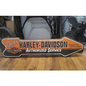 ハーレーダビッドソン 木製看板 アロー ウッドボード アメリカ雑貨|goodsfarm