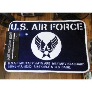 インテリアマット U.S.AIR FORCE エアフォース バスマット キッチンマット アメリカン雑貨|goodsfarm