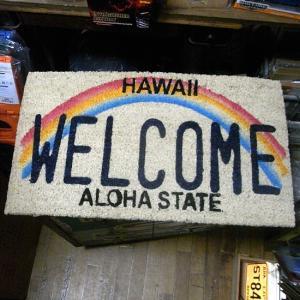 ハワイ ウェルカム コイヤーマット 玄関マット HAWAII WELCOME|goodsfarm