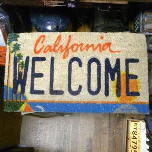 カリフォルニア ウェルカム コイヤーマット 玄関マット California WELCOME|goodsfarm