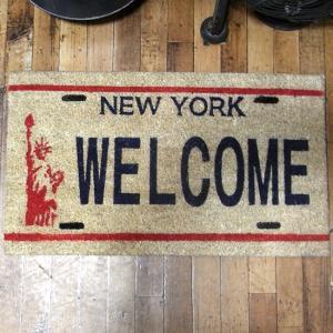 ニューヨーク ウェルカム コイヤーマット 玄関マット WELCOME|goodsfarm