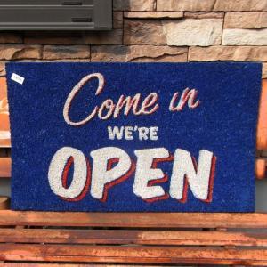 コイヤーマット 玄関マット OPEN コイアマット ブルー|goodsfarm