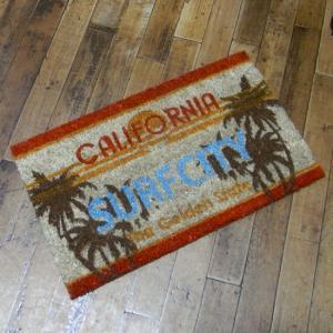カリフォルニア コイヤーマット 玄関マット License Plate California コイアマット|goodsfarm
