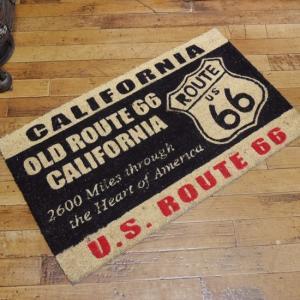 ルート66 カリフォルニア コイヤーマット ROUTE66 玄関マット コイアマット アメリカン雑貨|goodsfarm