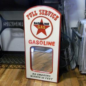 パブミラー ガソリン GASOLINE 木製ミラー アメリカン雑貨 インテリア|goodsfarm