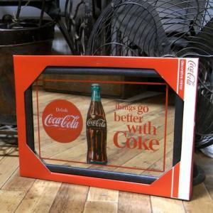コカコーラ パブミラー インテリア ウォールミラー 鏡 cocacora|goodsfarm