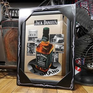 JACK DANIEL'S パブミラー ジャックダニエル スピーゲルミラー バックグラウンド インテリア 鏡|goodsfarm