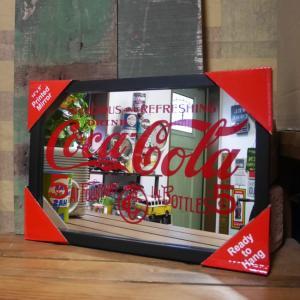 コカコーラ パブミラー 5セント インテリア ウォールミラー 鏡 cocacora|goodsfarm