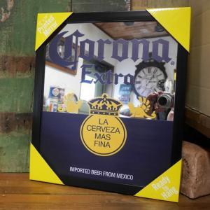コロナ パブミラー インテリア ウォールミラー 鏡 CORONA EXTRA ガレージミラー|goodsfarm